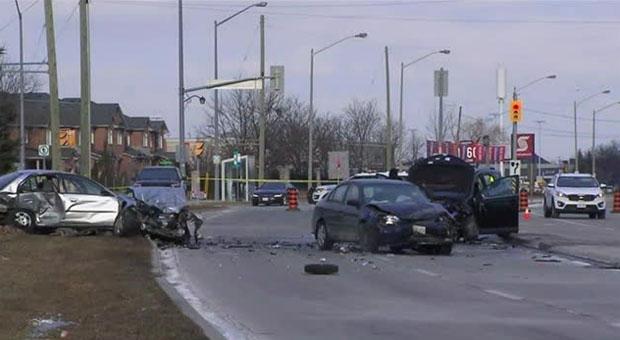 A crash near Islington Avenue and Major Mackenzie Drive in Vaughan has left one woman dead.
