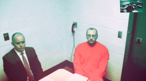 Jake Thomas Patterson makes his first appearance before Judge James Babler at the Barron County Justice Center in Barron, Wis., Monday, Jan. 14, 2019. Patterson, a Wisconsin man accused of abducting 13-year-old Jayme Closs and holding her captive for three months, made up his mind to take her when he spotted the teenager getting on a school bus, authorities said Monday. (Adam Wesley/The Post-Crescent via AP, Pool)