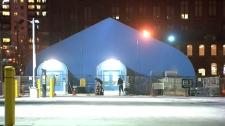 Respite site at Lamport Stadium