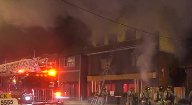 No injuries were reported after a fire in Oakwood Village this morning.