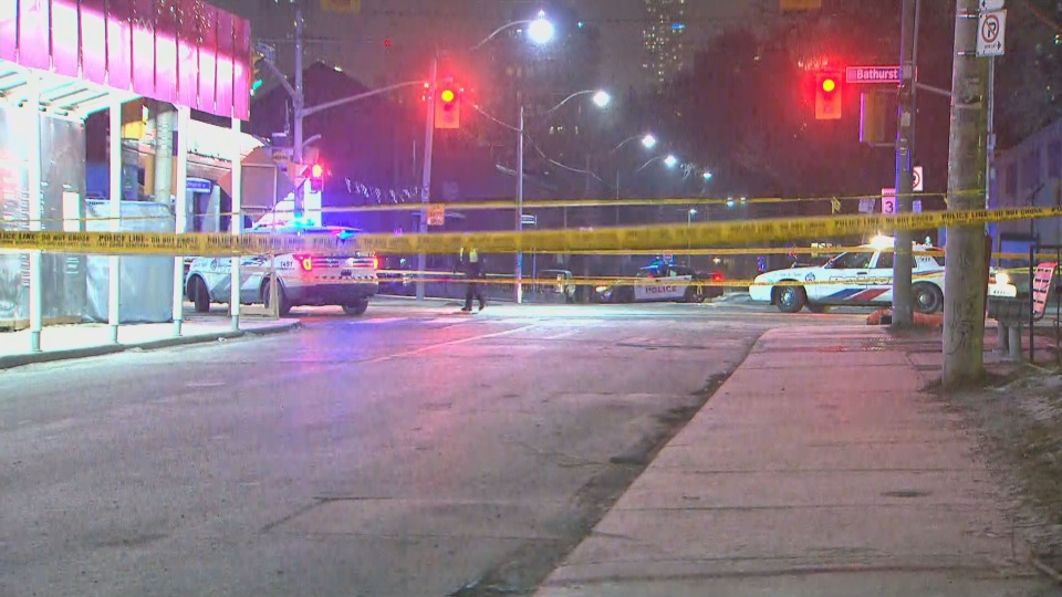 Police investigate a fatal hit-and-run at Bathurst and Lennox streets Thursday January 19, 2019.