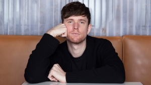 "This Jan. 16, 2019 photo shows James Blake posing for a portrait at the SLS Hotel in Los Angeles to promote his latest album ""Assume Form."" (Photo by Rebecca Cabage/Invision/AP)"