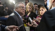 Public Security Minister Ralph Goodale talks with reporters as he arrives for a cabinet meeting in Sherbrooke, Que. on Friday, January 18, 2019. THE CANADIAN PRESS/Paul Chiasson