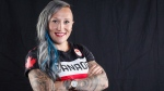 Canadian Olympic athlete Kaillie Humphries poses for a photo at the Olympic Summit in Calgary, Alta., Saturday, June 3, 2017. Bobsleigh Canada Skeleton has confirmed that former Olympian Kaillie Humphries filed a harassment complaint with the organization. Humphries stepped away from competition in October before the World Cup season began. THE CANADIAN PRESS/Jeff McIntosh