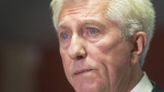 Bloc Quebecois leader Gilles Duceppe announces his resignation, Thursday, October 22, 2015 in Montreal. A 93-year-old woman whose body was found in the snow outside a Montreal seniors residence Sunday was the mother of Duceppe. THE CANADIAN PRESS/Ryan Remiorz