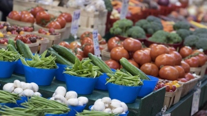 Various vegetables are on display at the Jean Talon Market, Monday, January 11, 2016 in Montreal. A newly-overhauled Canada Food Guide will be released today highlighting a modern approach to encouraging healthy eating in Canada. THE CANADIAN PRESS/Paul Chiasson