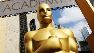 In this Feb. 21, 2015, file photo, an Oscar statue appears outside the Dolby Theatre for the 87th Academy Awards in Los Angeles. (Photo by Matt Sayles/Invision/AP, File)
