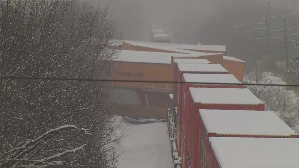 No injuries after freight train derails in Ajax | CP24 com