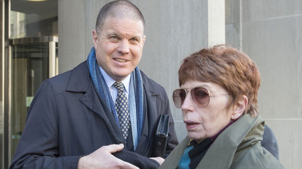 Police Detective Hank Idsinga, left, and homeowner Karen Fraser stand outside court in Toronto after Bruce McArthur's guilty plea on eight counts of first-degree murder on Tuesday, January 29, 2019. Fraser's home is where some of the victims's human remains were found in the bottom of planters. THE CANADIAN PRESS/Frank Gunn