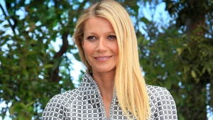 In this Jan. 26, 2016, file photo, Gwyneth Paltrow poses for photographers before Chanel's Spring-Summer 2016 Haute Couture fashion collection in Paris. (AP Photo/Thibault Camus, File)