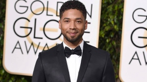 In this Jan. 10, 2016 file photo, actor and singer Jussie Smollett arrives at the 73rd annual Golden Globe Awards in Beverly Hills, Calif. (Photo by Jordan Strauss/Invision/AP, File)