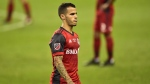Toronto FC forward Sebastian Giovinco (10) leaves the game during first half Campeones Cup soccer action against the UANL Tigres in Toronto on Wednesday, Sept. 19, 2018. Giovinco's future with Toronto FC was up in the air Wednesday with a source confirming that the MLS club had received an offer for the Italian. THE CANADIAN PRESS/Frank Gunn