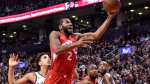 Toronto Raptors forward Kawhi Leonard (2) scores against the Milwaukee Bucks during second half NBA basketball action in Toronto on Thursday Jan. 31, 2019. THE CANADIAN PRESS/Frank Gunn