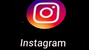In this Thursday, Nov. 29, 2018, file photo, the Instagram app logo is displayed on a mobile screen in Los Angeles. (AP Photo/Damian Dovarganes, File)