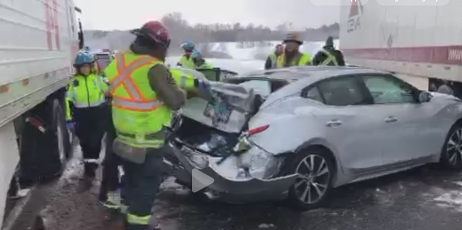 WB Highway 401 in Milton reopens after massive pileup | CP24 com