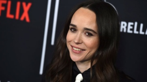 "Cast member Ellen Page arrives at the Los Angeles premiere of ""The Umbrella Company"" at The ArcLight Hollywood on Tuesday, Feb. 12, 2019. THE CANADIAN PRESS/AP, Jordan Strauss/Invision"