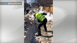 Torontonians have taken to Twitter to complain about snow-covered sidewalks and bike lanes following two major winter storms. (Twitter/ @GerryBrown)