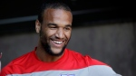 In this May 21, 2014 file photo, Toronto FC's new signing Terrence Boyd smiles as he answers questions during a training session in Stanford, Calif. Toronto FC, having journeyed 3,850 kilometres south from the ice and cold of home, will find out for itself Tuesday when it takes on Club Atletico Independiente de la Chorrera in the first leg of their round-of-16 CONCACAF Champions League series. (AP Photo/Marcio Jose Sanchez, File)