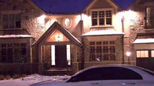 Police are investigating after shits were fired at a mansion on Pinewood Trail in Mississauga Tuesday February 19, 2019.