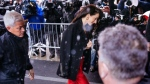 Amal Clooney arrives for the baby shower for Meghan, Duchess of Sussex, at The Mark Hotel Wednesday, Feb. 20, 2019, in New York. (AP Photo/Kevin Hagen).