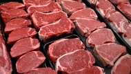 This Jan. 18, 2010 file photo shows steaks and other beef products displayed for sale at a grocery store in McLean, Va. (AP Photo/J. Scott Applewhite, file)