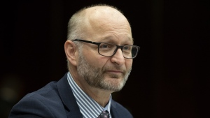 Justice Minister David Lametti waits to appear before the Standing Committee on Justice and Human Rights in Ottawa, Thursday, January 31, 2019. THE CANADIAN PRESS/Adrian Wyld