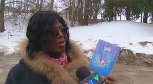 Grace Gayle shows CTV News Toronto a card from her late son Jonathan Gayle-West, who was gunned down in Etobicoke in December.