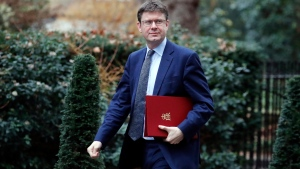 Secretary of State for Business, Energy and Industrial Strategy Greg Clark arrives to attend a cabinet meeting at 10 Downing Street in London, Tuesday, Feb. 5, 2019. With Britain's Brexit split from Europe is barely seven weeks away, and the ruling Conservative Party is locked in negotiations to agree on the wording of an acceptable Brexit deal. (AP Photo/Frank Augstein)