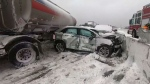 Highway 400 in Barrie reopens after multi-car pileup | CP24 com