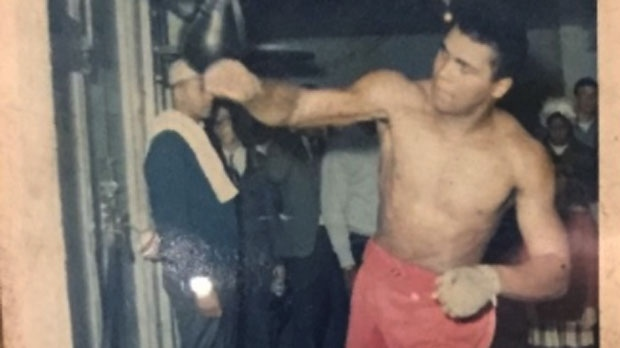 Muhammad Ali is seen at Sully's Boxing Gym in March 1966. (Sully's Boxing Gym)