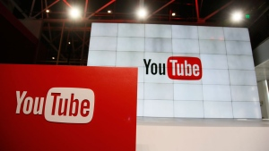 This Oct. 21, 2015, file photo shows signage inside the YouTube Space LA offices in Los Angeles. (AP Photo/Danny Moloshok, File)