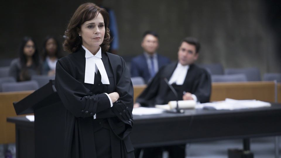 Cynthia Dale plays lawyer Olivia Novak in this undated handout production still from 'Street Legal.'  THE CANADIAN PRESS/HO-CBC