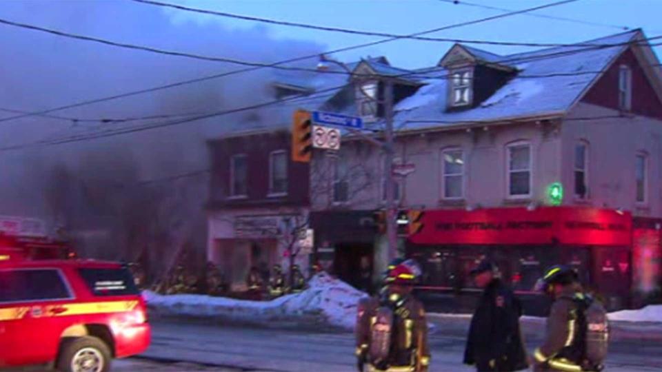 Toronto fire crews respond to a basement apartment near Richmond Street and Bathurst Street Monday March 4, 2019.