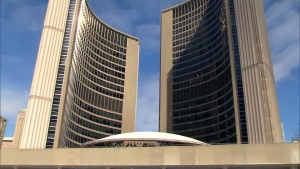 Toronto City Hall is seen in this undated photo.