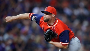 St. Louis Cardinals relief pitcher Bud Norris works against the Colorado Rockies during the ninth inning of a baseball game Friday, Aug. 24, 2018, in Denver. The Toronto Blue Jays have signed right-hander Norris to a minor-league contract with an invitation to major-league spring training.THE CANADIAN PRESS/AP/David Zalubowski