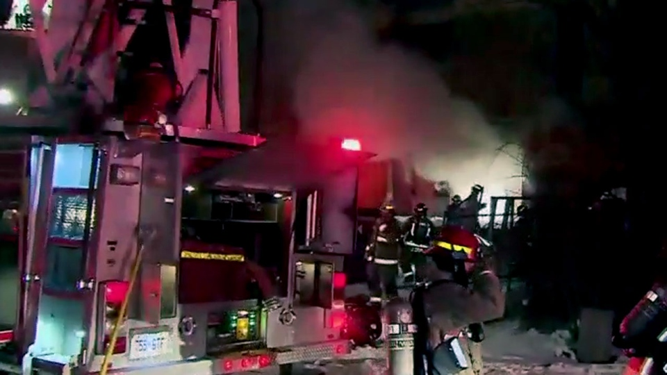 Emergency crews battle three-alarm fire at Lawrence Park ...