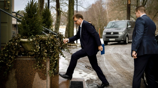 Finland s Prime Minister Juha Sipila arrives to announce his cabinet s  resignation 476139e29ec