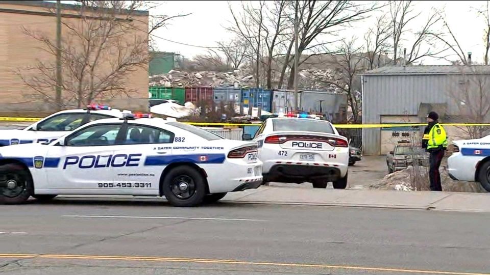 Police respond to a shooting in the area of Dundas Street East and Cawthra Road in Mississauga Monday March 11, 2019.