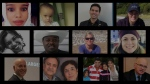 A composite image of some of the Canadians who lost their lives in an Ethiopian plane crash on Sunday March 10, 2019 is seen.