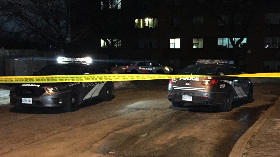 A man has been pronounced dead after multiple shots rang out at an apartment building in the Downsview area. (Mike Nguyen /CP24)