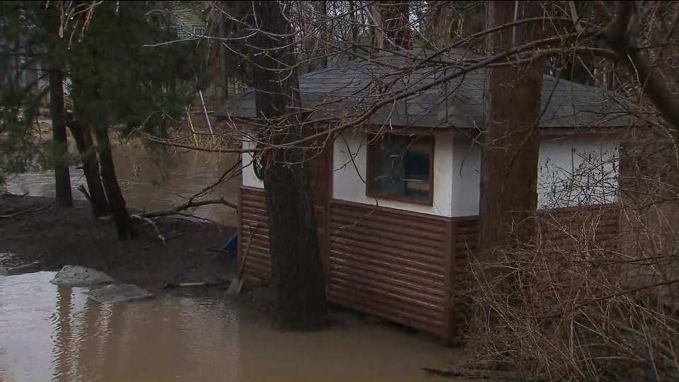 Officials are concerned about flooding in parts of the GTA due to mild temperatures and rain.