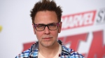 "This June 25, 2018 file photo shows James Gunn at the premiere of ""Ant-Man and the Wasp"" in Los Angeles. Months after being fired over old tweets, James Gunn has been rehired as director of ""Guardians of the Galaxy Vol. 3."" Representatives for the Walt Disney Co. and for Gunn on Friday confirmed that Gunn has been reinstated as writer-director of the franchise he has guided from the start. (Photo by Jordan Strauss/Invision/AP, File)"