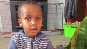 In this undated photo supplied by Abdi Ibrahim, shows a photo of his three-year-old brother, Mucaad, who is the youngest known victim of the mass shooting in Christchurch, New Zealand on Friday, March 15, 2019. (Abdi Ibrahim via AP)