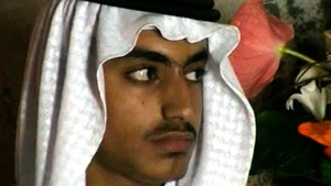 In this image from video released by the CIA on Nov. 1, 2017, Hamza bin Laden is shown at his wedding.  (CIA via AP, File)