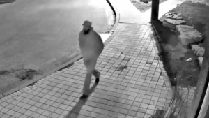 A suspect wanted in connection with a Davisville sexual assault is seen in this screengrab from surveillance camera footage. (Toronto Police Service)