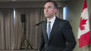 Federal Finance Minister Bill Morneau holds a media availability in Toronto on Thursday February 28, 2019. THE CANADIAN PRESS/Frank Gunn