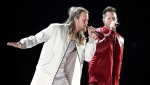 "Tyler Hubbard, right, and Brian Kelley, of Florida Georgia Line, perform ""Meant to Be"" at the 53rd annual Academy of Country Music Awards in Las Vegas on April 15, 2018. Florida Georgia Line and the Glorious Sons will headline a new concert series at the RBC Canadian Open this summer. THE CANADIAN PRESS/AP-Invision, Chris Pizzello"