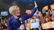 Alberta Premier Rachel Notley makes an announcement in Calgary on Tuesday, March 19, 2019. Alberta Premier Rachel Notley has called an election for April 16. Notley asked cheering supporters standing behind her in Calgary Tuesday morning if they are ready to fight for an Alberta that benefits everyone. THE CANADIAN PRESS/Dave Chidley