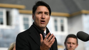 Prime Minister Justin Trudeau speaks during a press conference highlighting the first-time home buyer incentive, at Tamarack Homes' Cardinal Creek Village development in Ottawa on Wednesday, March 20, 2019. THE CANADIAN PRESS/Justin Tang