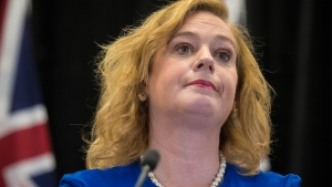 Lisa MacLeod, Minister of Children, Community and Social Service, makes an announcement about Ontario's autism program at Queen's Park in Toronto on Thursday, March 21, 2019. THE CANADIAN PRESS/ Tijana Martin